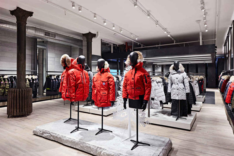 30b9712c791 Canada Goose Launches Flagship Store in NYC SoHo Down Jackets Winter Warm  Cozy Toronto