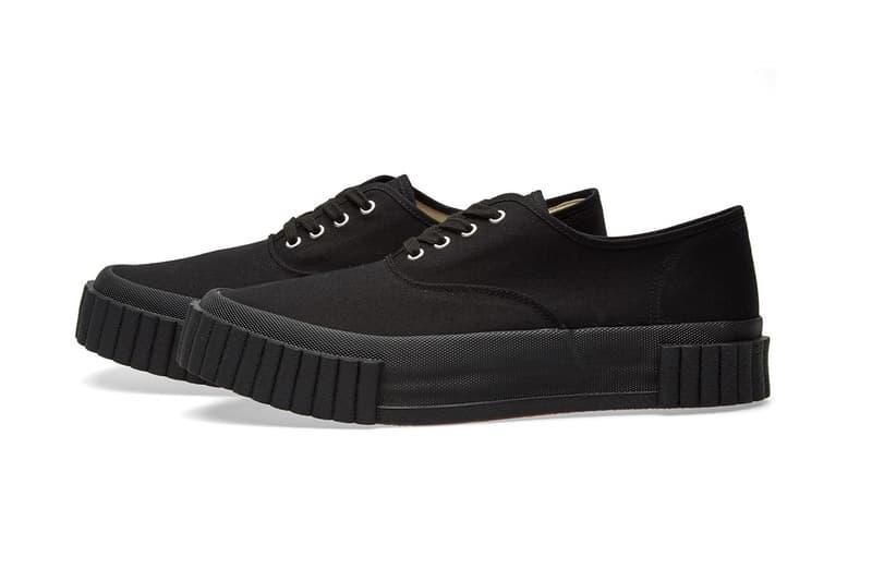 COMME des GARÇONS GANRYU Chunky Canvas Sneakers black