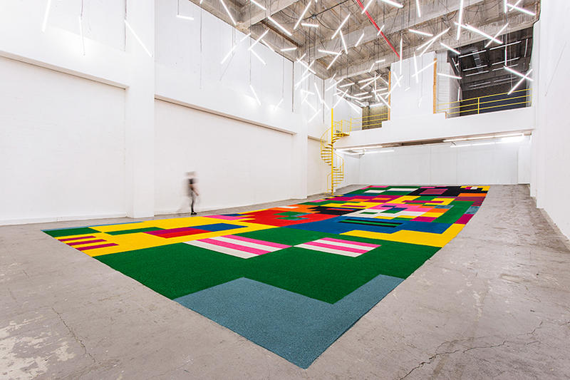 Craig and Karl Sawdust Carpet for Showcase ITCH in Guatemala City