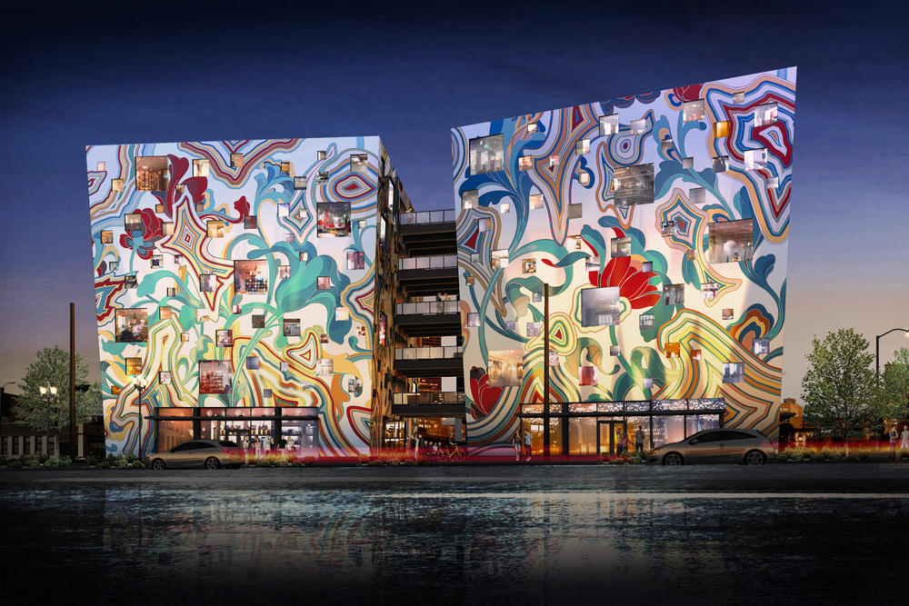 James Jean Fair-Haired Dumbbell Large Scale Mural