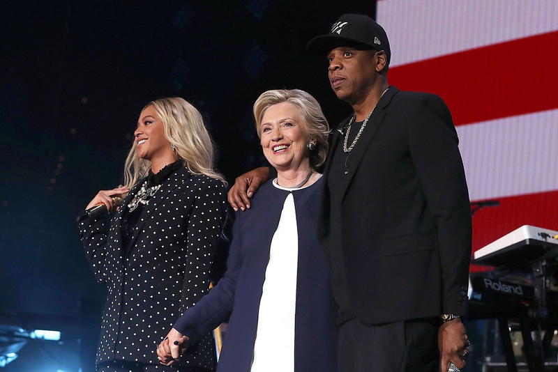 Jay Z Beyonce Chance the Rapper J Cole Big Sean Hillary Clinton Get Out the Vote Rally