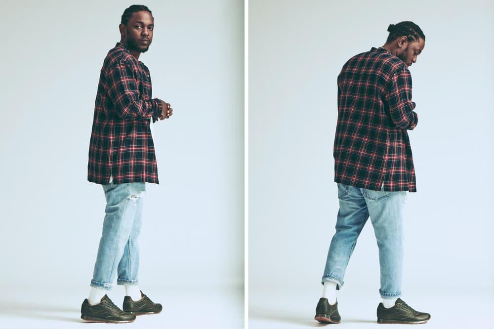 Kendrick Lamar Reebok Classic Leather Red Blue Green