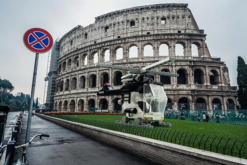 Life Size LEGO Vehicles Take Over Ancient Rome