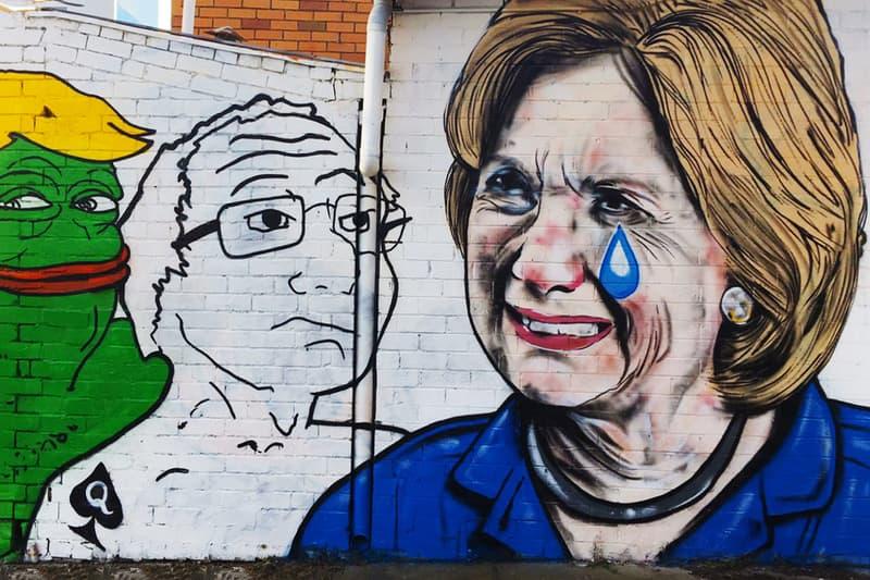Lushsux Bring Cash Exhibit Art Donald Trump Hillary Clinton