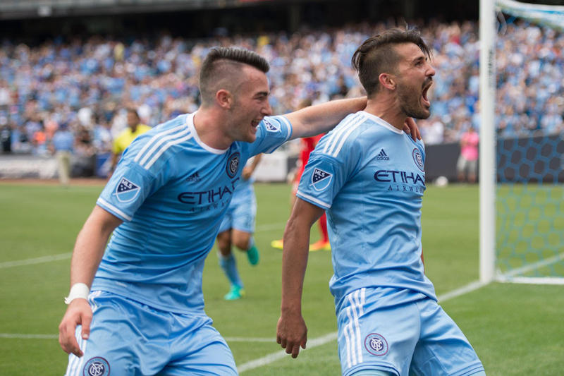david villa jack harrison nycfc mls soccer football
