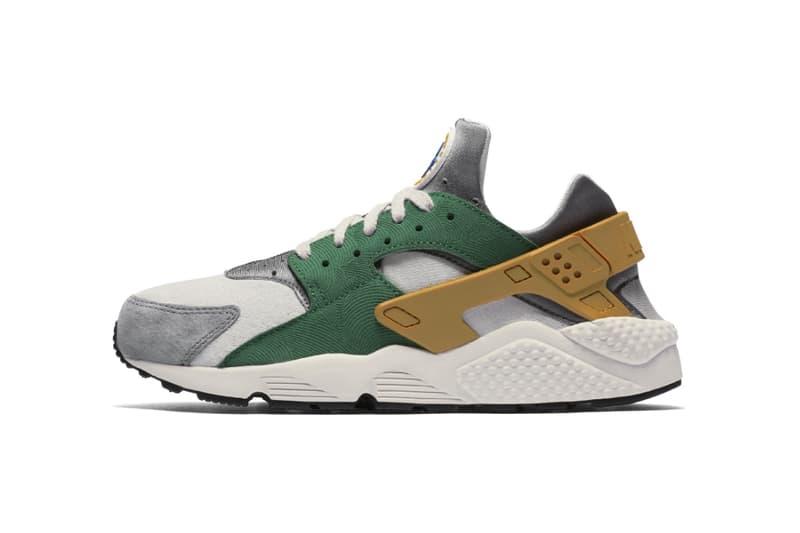 Nike Air Huarache SE Pine Green Gold Leaf