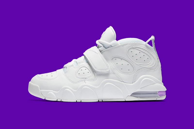 33890a4dcdb An all-white look for the Round Mound of Rebound s signature kicks. Charles  Barkley Nike Air Max CB34 Triple White
