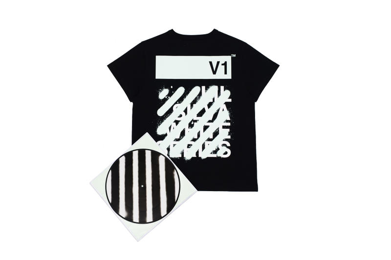 OFF-WHITE Lil Silva 2016 Fall Winter Collaboration Vinyl Music T-shirt Tees Virgil Abloh