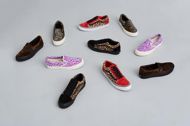 Opening Ceremony Vans Vault Big Cat Leopard Tiger Old Skool Classic Slip On