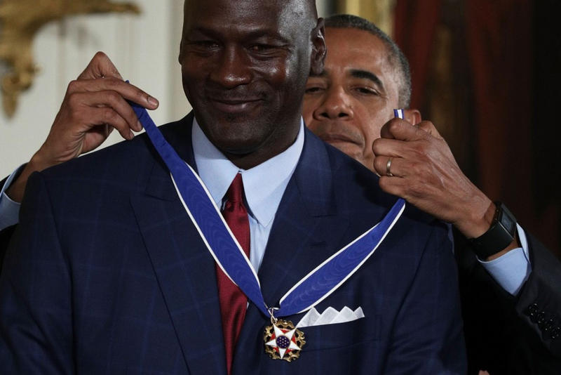 """Crying Jordan"" Medal of Freedom Ceremony White House President Obama"