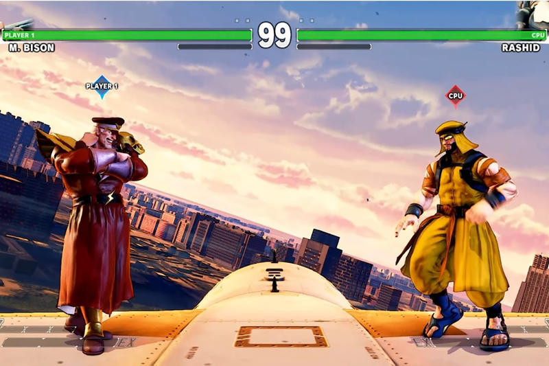 Street Fighter V Skies of Honor Stage M. Bison Vs Rashid Images