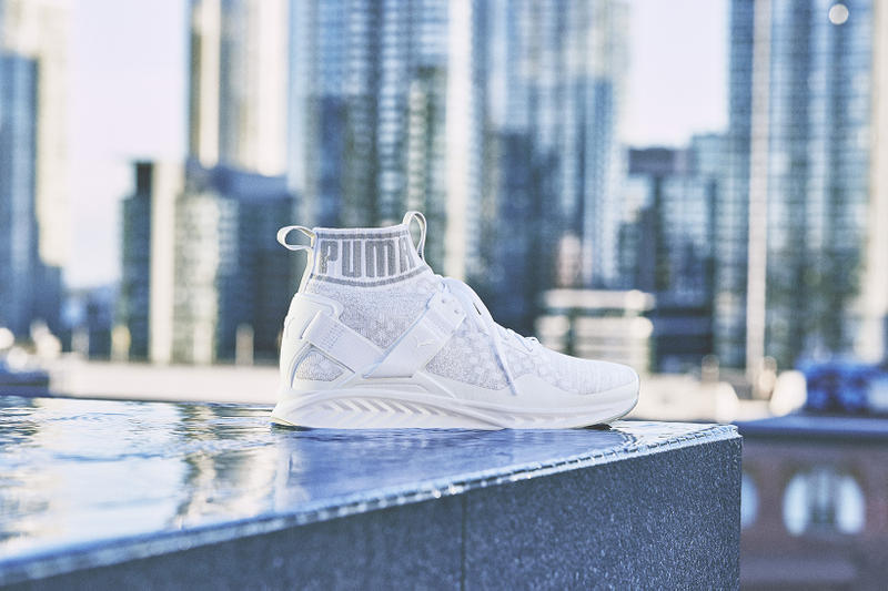 The Weeknd   PUMA Unveil the IGNITE evoKNIT in Olive and White ... c82910c7d