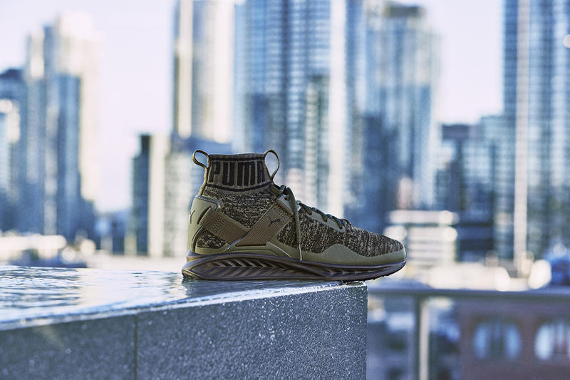 new photos dbb0b 49f9d The Weeknd & PUMA Unveil the IGNITE evoKNIT in Olive and ...