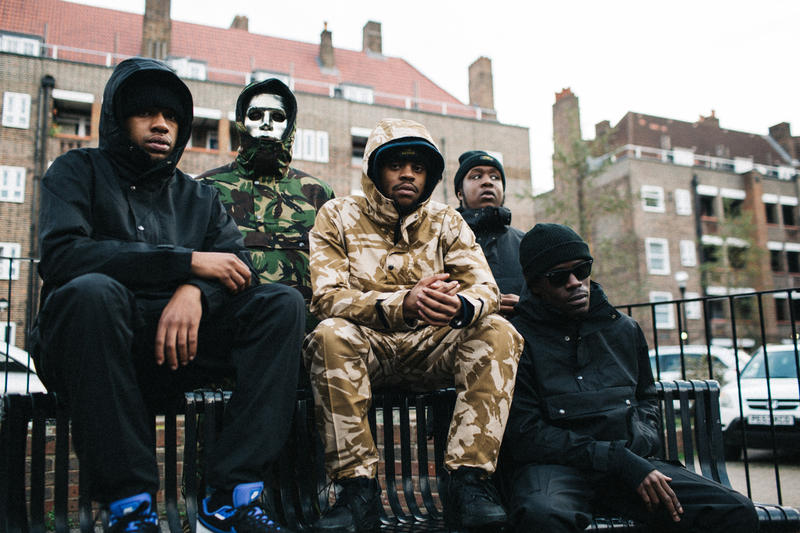 TM 2016 Fall Winter Lookbook D Double E Grime Crew 67 London toomuchposse Pullover Jackets Kangaroo Front Pocket Pants Green Camo Tan Camo Black Made in England
