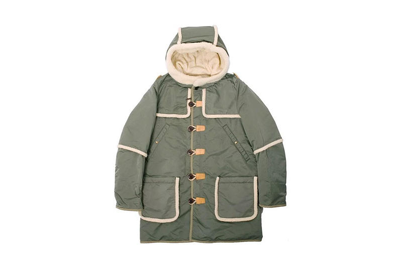 visvim Olive Military Nylon Hudson Jacket
