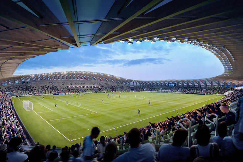 Zaha Hadid Architects First Wooden Soccer Stadium Forest Green Rovers
