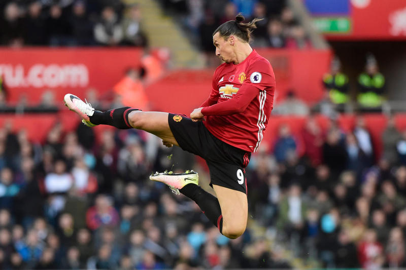 Zlatan Ibrahimovic Nets 25000th Premier League Goal Manchester United Football Soccer