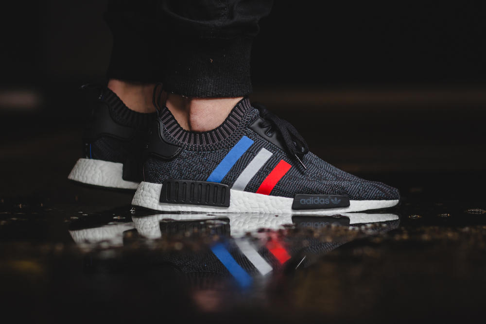 """Here's an #OnFeet Look at the adidas Originals NMD_R1 """"Tri-Color"""" Pack"""