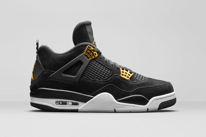 Air Jordan 4 Royalty Black Gold
