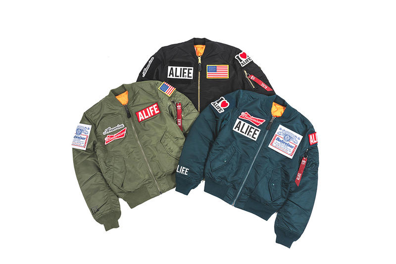 ALIFE Alpha Industries MA-1 Patch Jacket
