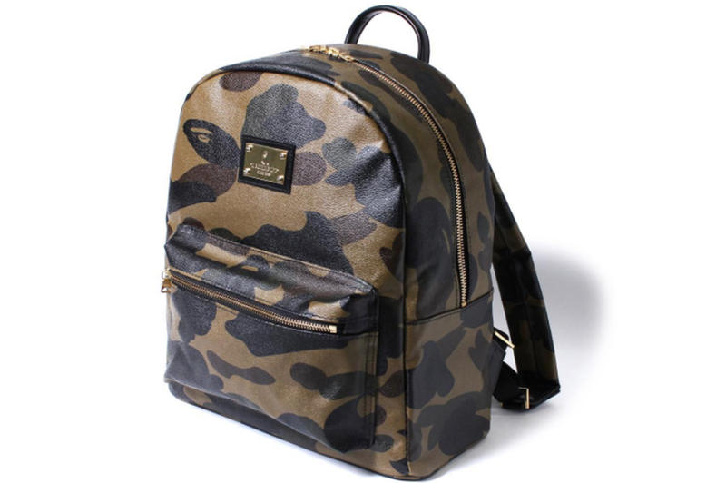 BAPE Leather Camouflage Backpack