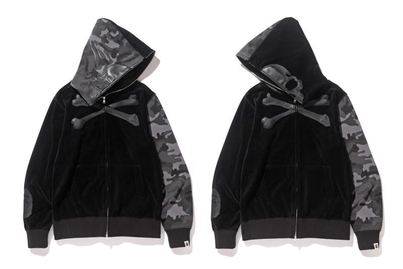 BAPE x mastermind JAPAN 2016 Full Collaboration Unveiled A Bathing Ape Japan Varsity Jackets Rain Jackets Skull-and-bones motif Camouflage APE head