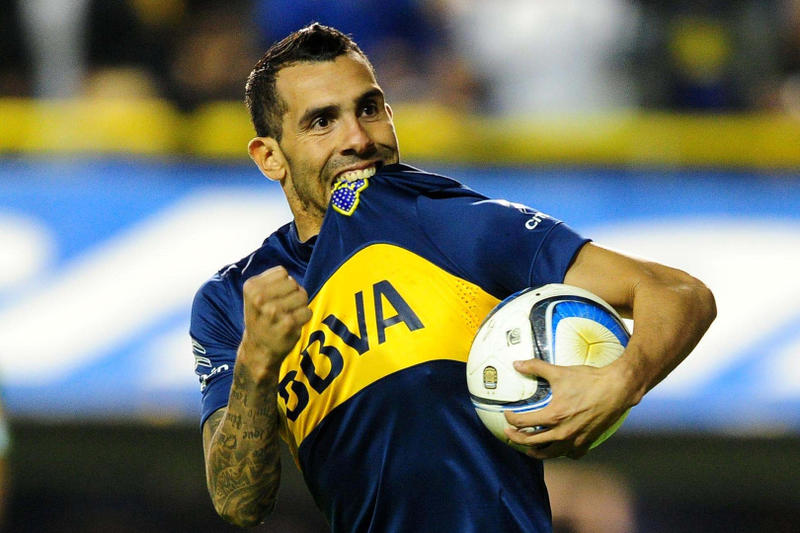 Carlos Tevez boca juniors argentina football soccer pictures kit jersey field match game pitch cls china chinese super league