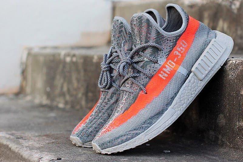 Custom YEEZY BOOST 350 v2 and NMD_XR1 Sneaker by Jake Danklefs
