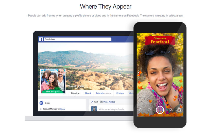 Facebook Location Frames Snapchat Geofilters