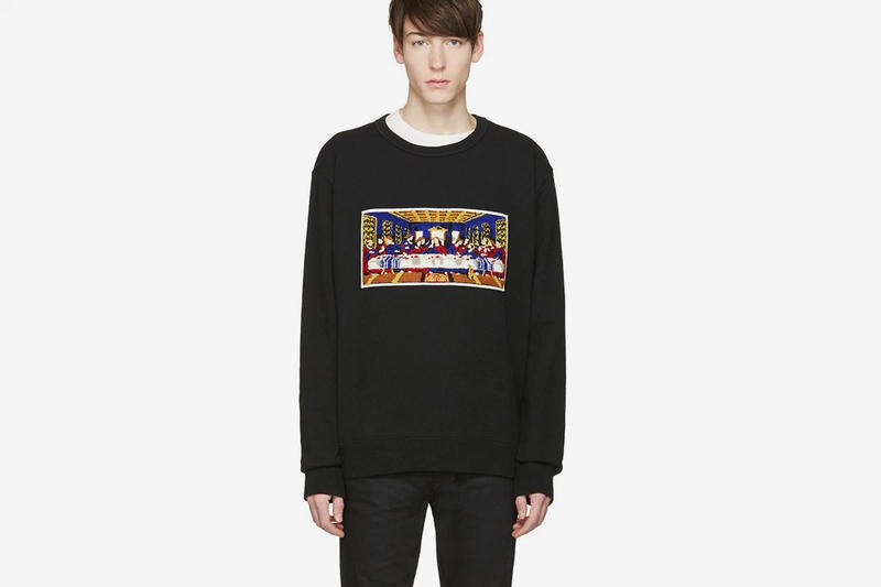 Facetasm Black 'Last Supper' Pullover