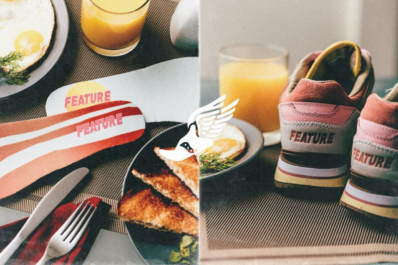 Feature Saucony Courageous Bacon Eggs Breakfast Sneaker