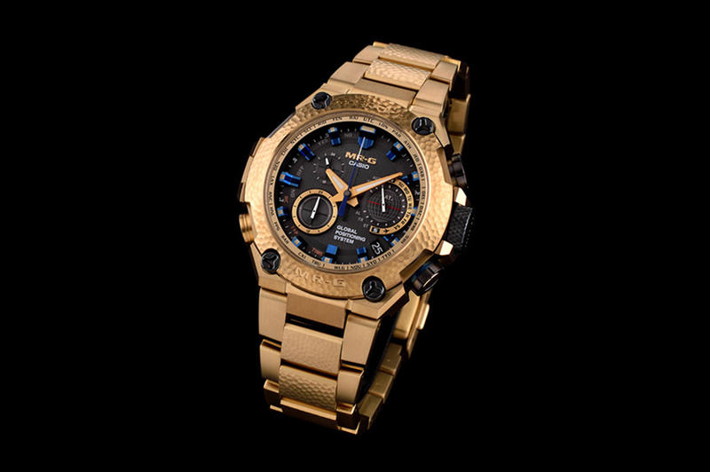 3e8f7d3970a G SHOCK MRG G1000 Gold Hammertone Watch