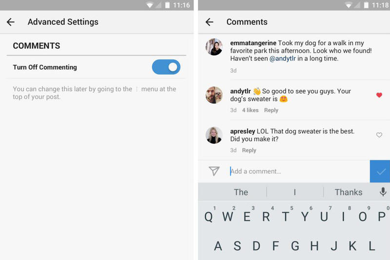 Instagram Disable Comments Tools Options | HYPEBEAST