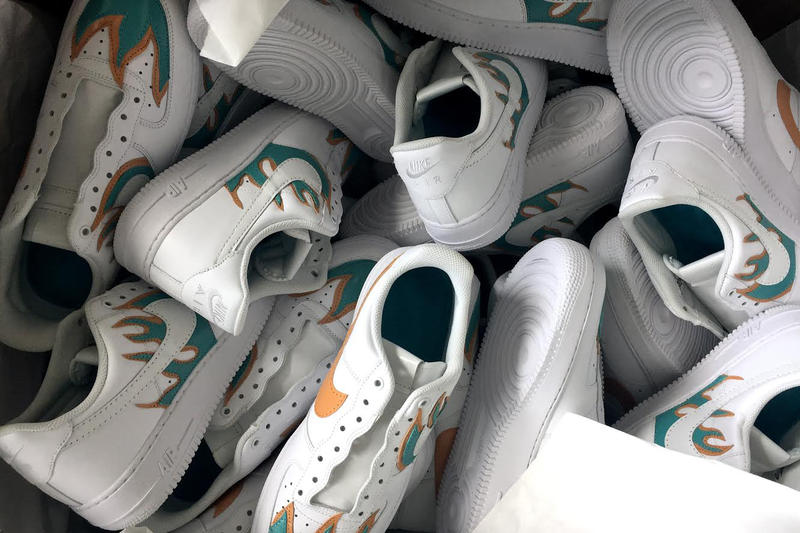 """John Geiger Custom """"LA Flame"""" Air Force 1 Low With The Shoe Surgeon"""