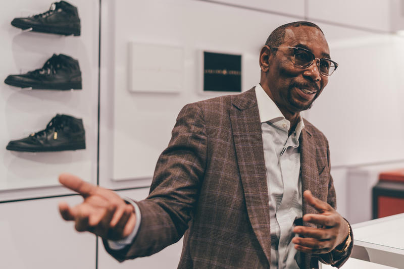 Larry Miller Jordan Brand President In Paris Store + Jordan Store In Paris