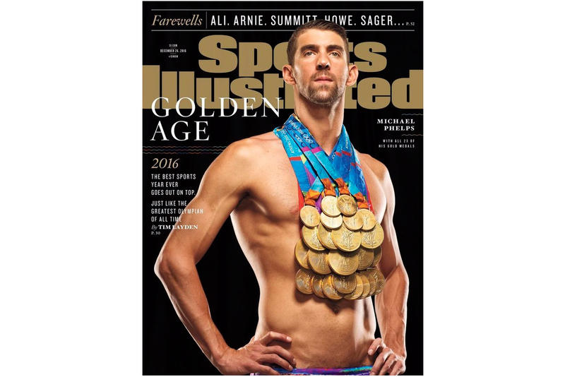 Michael Phelps Poses With All 23 Gold Medals On Latest Sports