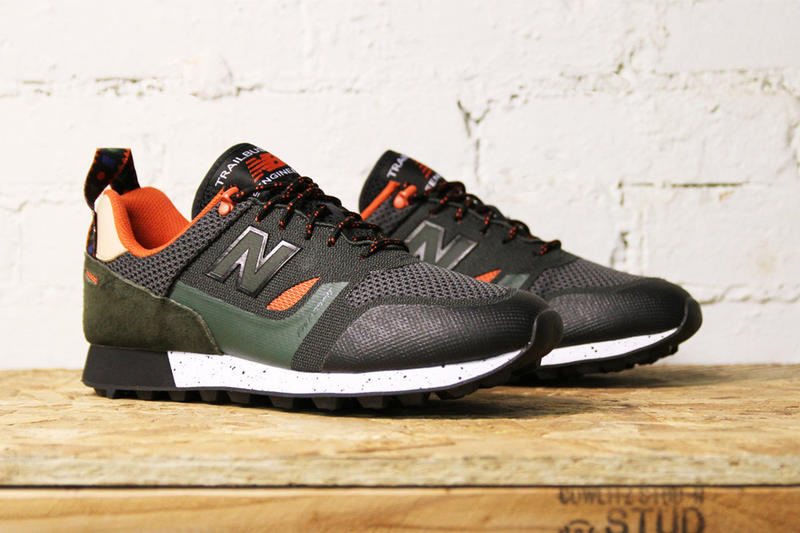 New Balance Trailbuster Re-Engineered Textile black forest green orange