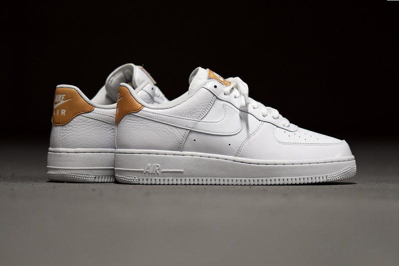 half off a9918 10b65 Nike Air Force 1 Low LV8 White and Vachetta Tan