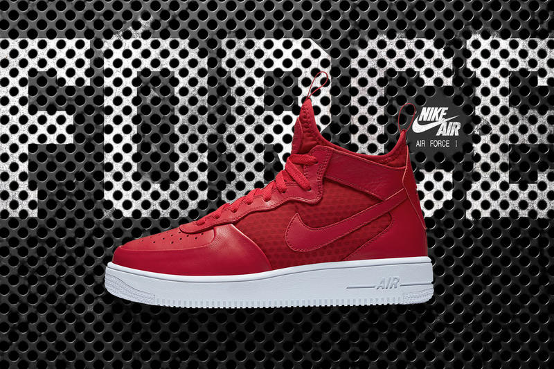 Nike Air Force 1 Ultra Force Mid Black Gym Red