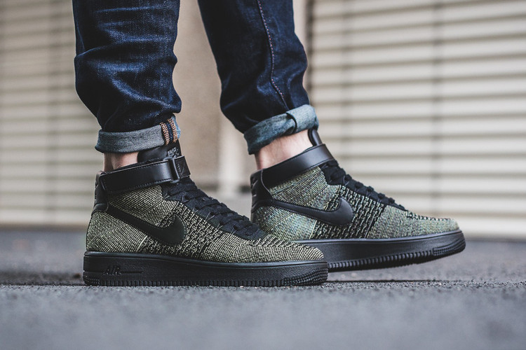 new product 993db e7629 Nike s Air Force 1 Ultra Flyknit Mid Gets Revamped in Dark Green