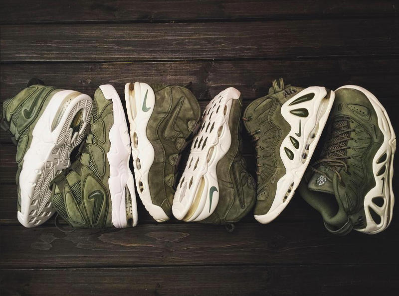 Nike Air Max Uptempo Urban Haze in Khaki Green Nubuck Suede