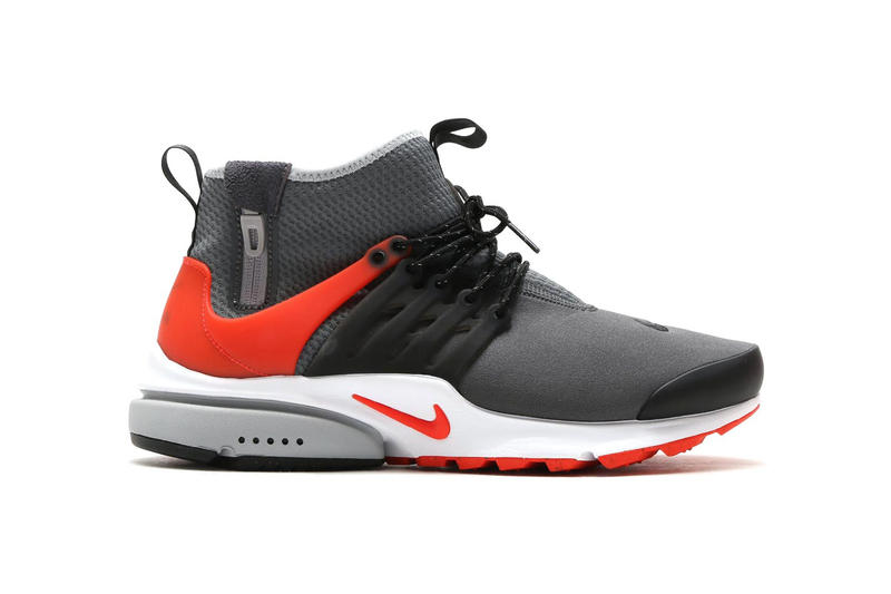 8ecc97b292b9 Nike Air Presto Mid Utility in Dark Grey Max Orange Black Wolf Grey ...