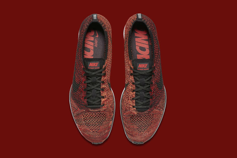 450f67b1cf71 Another new Flyknit Racer colorway is on the way. Nike Flyknit Racer  University Red Black Bright Mango