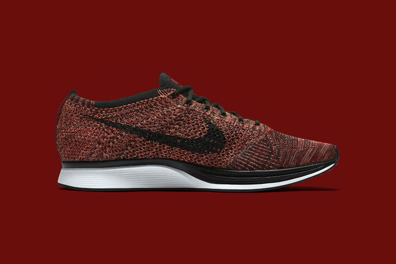 Nike Flyknit Racer University Red Black Bright Mango