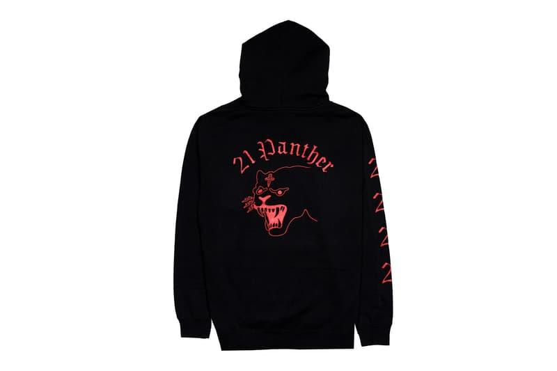 21 Savage Rare Panther 2016 Capsule black red