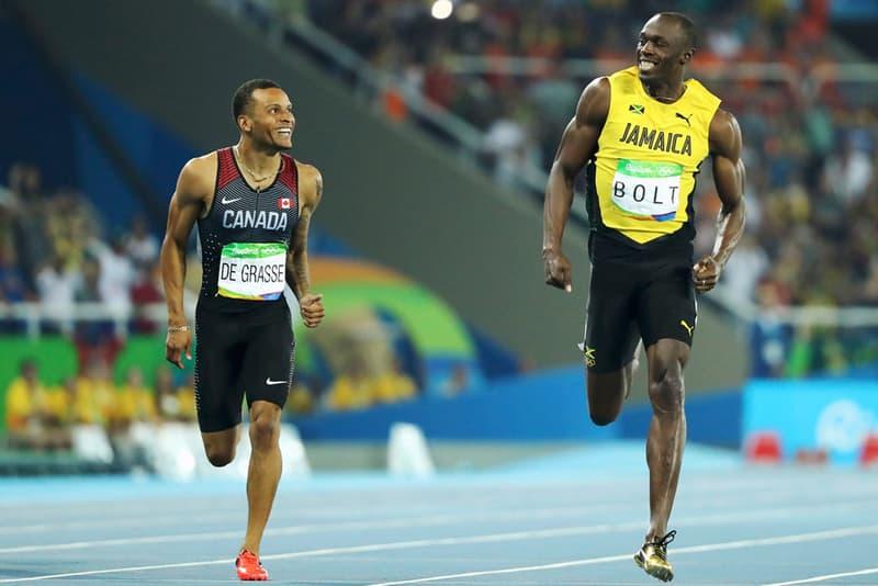 Usain Bolt Andre De Grasse Olympics 100m 200m Sprint race