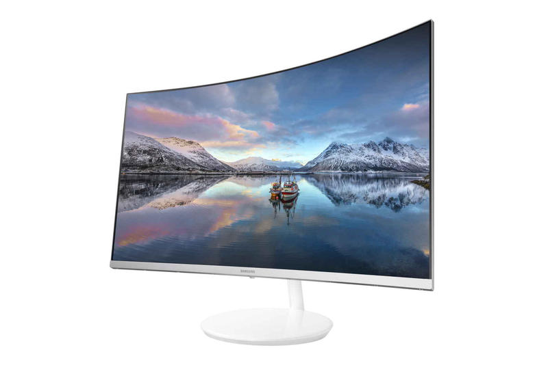 Samsung CH711 Quantum Dot Curved Monitor White