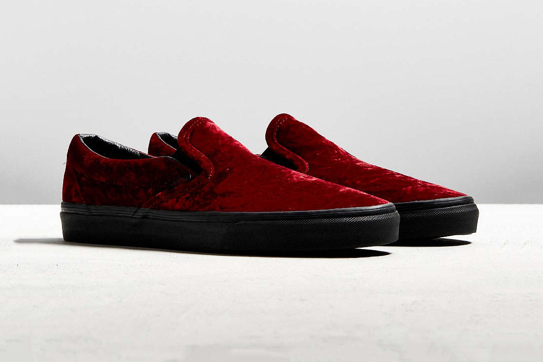 red velvet vans old skool