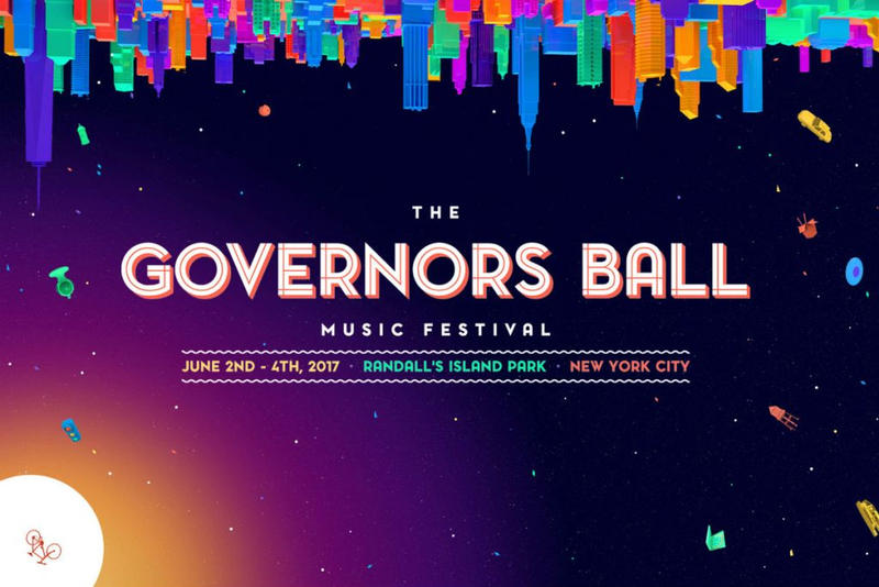 2017 Governors Ball Festival Single Day Lineup Tickets