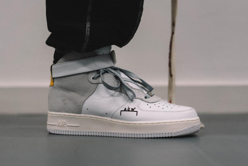 the best attitude dc0f8 b58d1 A-COLD-WALL x NikeLab Air Force 1 Custom Bespoke Sneaker